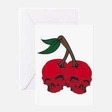 Skull Cherries Greeting Card