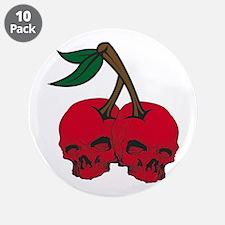 """Skull Cherries 3.5"""" Button (10 pack)"""