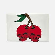 Skull Cherries Rectangle Magnet