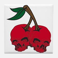 Skull Cherries Tile Coaster