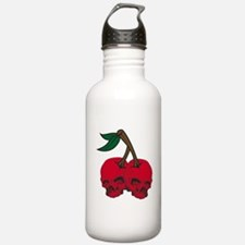 Skull Cherries Sports Water Bottle