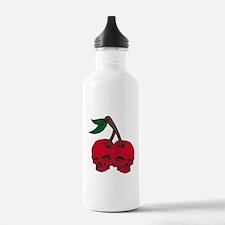 Skull Cherries Water Bottle