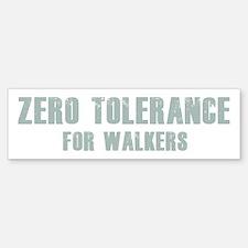 Zero Tolerance Bumper Bumper Sticker
