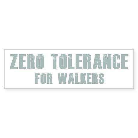 Zero Tolerance Sticker (Bumper) by KiltedPineapple