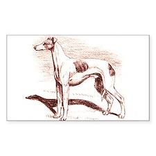 Greyhound #1 Rectangle Decal