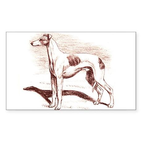 Greyhound #1 Rectangle Sticker