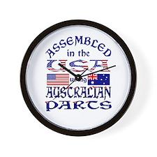 USA / Australian Parts Wall Clock
