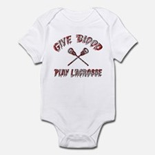 Give Blood Play Lacrosse Infant Bodysuit