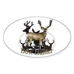 Bow hunter 4 Sticker (Oval 10 pk)