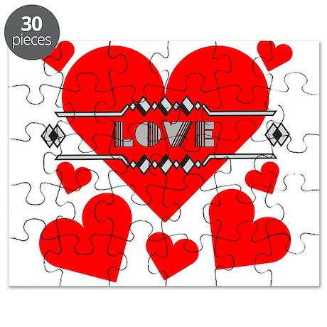 Deco Love Hearts Puzzle