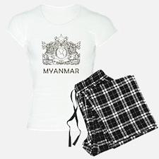 Vintage Myanmar Pajamas