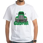 Trucker Gabriel White T-Shirt