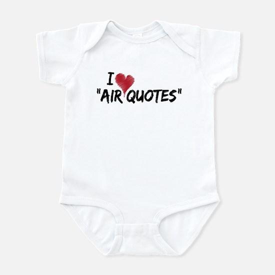 "I love ""Air Quotes"" Infant Bodysuit"