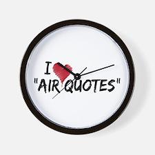 "I love ""Air Quotes"" Wall Clock"