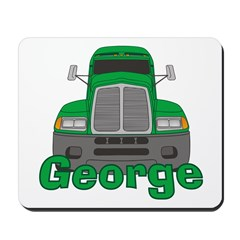 Trucker George Mousepad