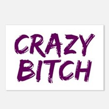 Crazy Bitch Postcards (Package of 8)