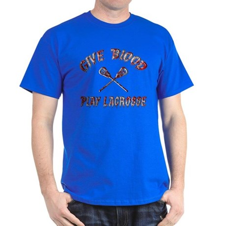 Give Blood Play Lacrosse Dark T-Shirt