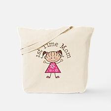 1st Time Mom Stick Figure Tote Bag