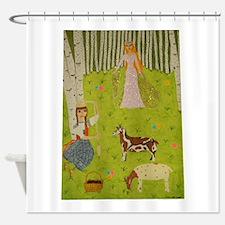 Wood Maiden Shower Curtain