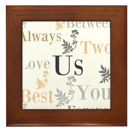 OYOOS US Love design Framed Tile