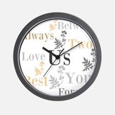 OYOOS US Love design Wall Clock