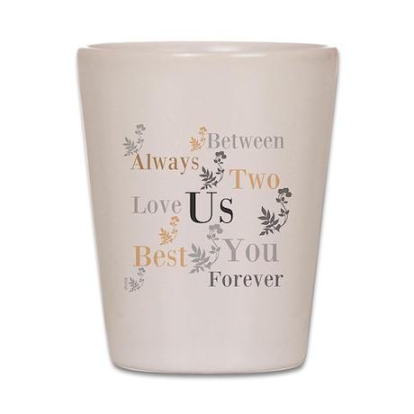 OYOOS US Love design Shot Glass
