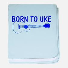 Blue Ukulele baby blanket