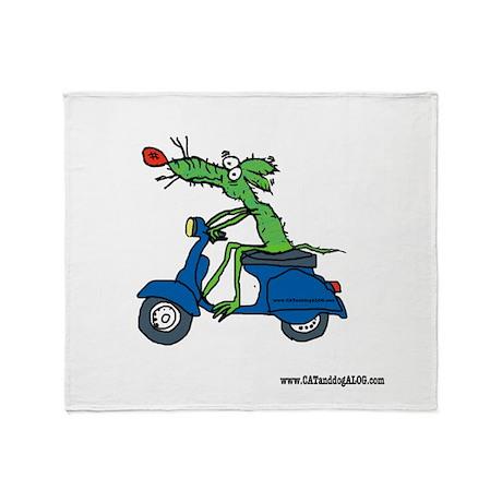Ducati/Vespa Throw Blanket by Tamara Warren