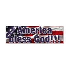 America Bless God Car Magnet 10 x 3