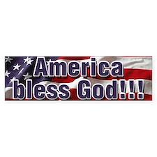 America Bless God Car Sticker