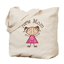 New Mom Stick Figure Tote Bag