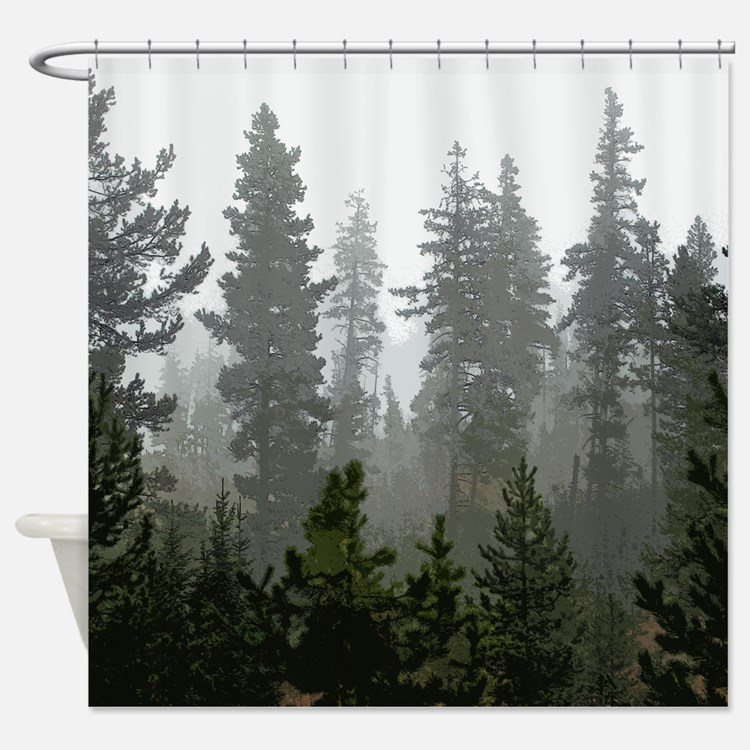 pine tree shower curtains pine tree fabric shower curtain liner