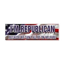 I'm Republican Car Magnet 10 x 3