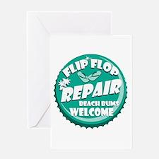 Flip Flop Repair Greeting Card