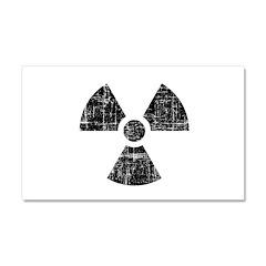 Vintage Radioactive Symbol 1 Car Magnet 20 x 12