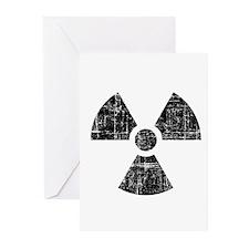 Vintage Radioactive Symbol 1 Greeting Cards (Pk of