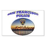 SFPD Skyline Sticker (Rectangle)