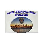 SFPD Skyline Rectangle Magnet