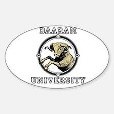 BaaRamUniversity Sticker (Oval)