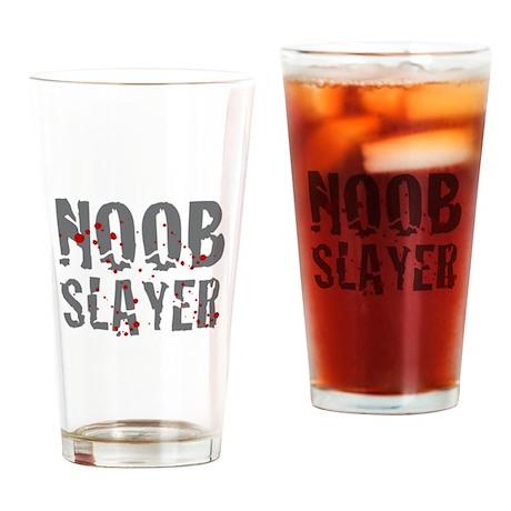 Noob Slayer Drinking Glass