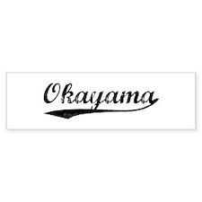 Vintage Okayama Bumper Bumper Sticker