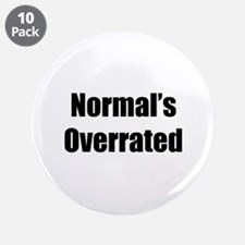 """Normal's Overrated 3.5"""" Button (10 pack)"""