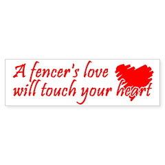 Touch Your Heart Bumper Sticker