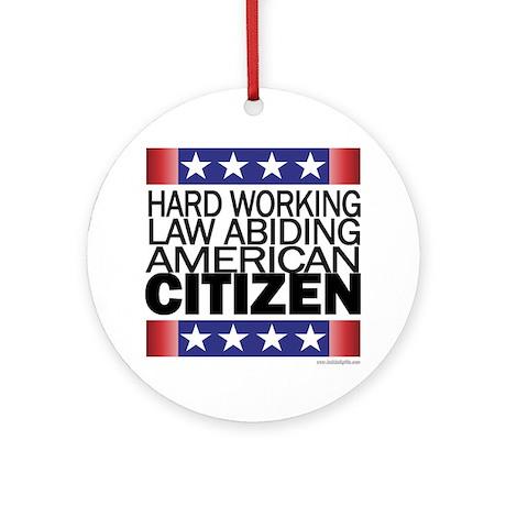 American Citizen... Ornament (Round)