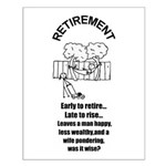 PONDERING RETIREMENT Small Poster
