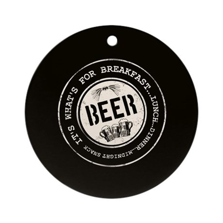 Beer Mania Gift Ornament (Round)