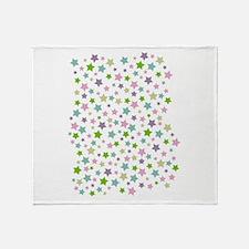 Pastel Star Pattern Throw Blanket
