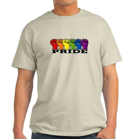 Row of Fists Pride Light T-Shirt