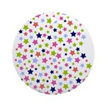 Colorful Star Pattern Ornament (Round)
