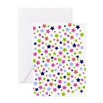 Colorful Star Pattern Greeting Card